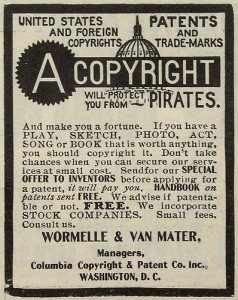 A copyright will protect you from PIRATES.